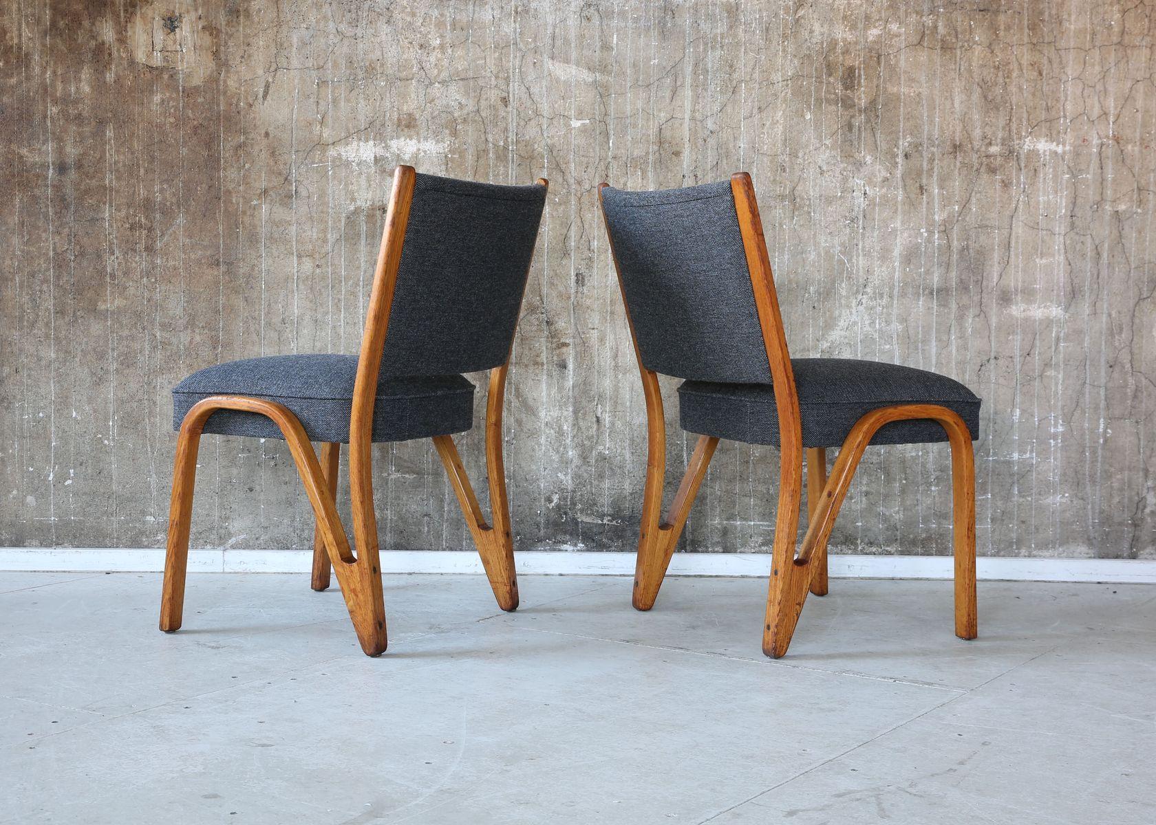 mid century st hle von paul bode f r deutsche federholzgesellschaft 2er set bei pamono kaufen. Black Bedroom Furniture Sets. Home Design Ideas