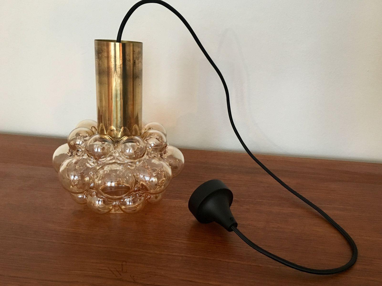 Lampe suspension bulle par helena tynell pour limburg 1960s en vente sur pamono - Lampe a bulle ...