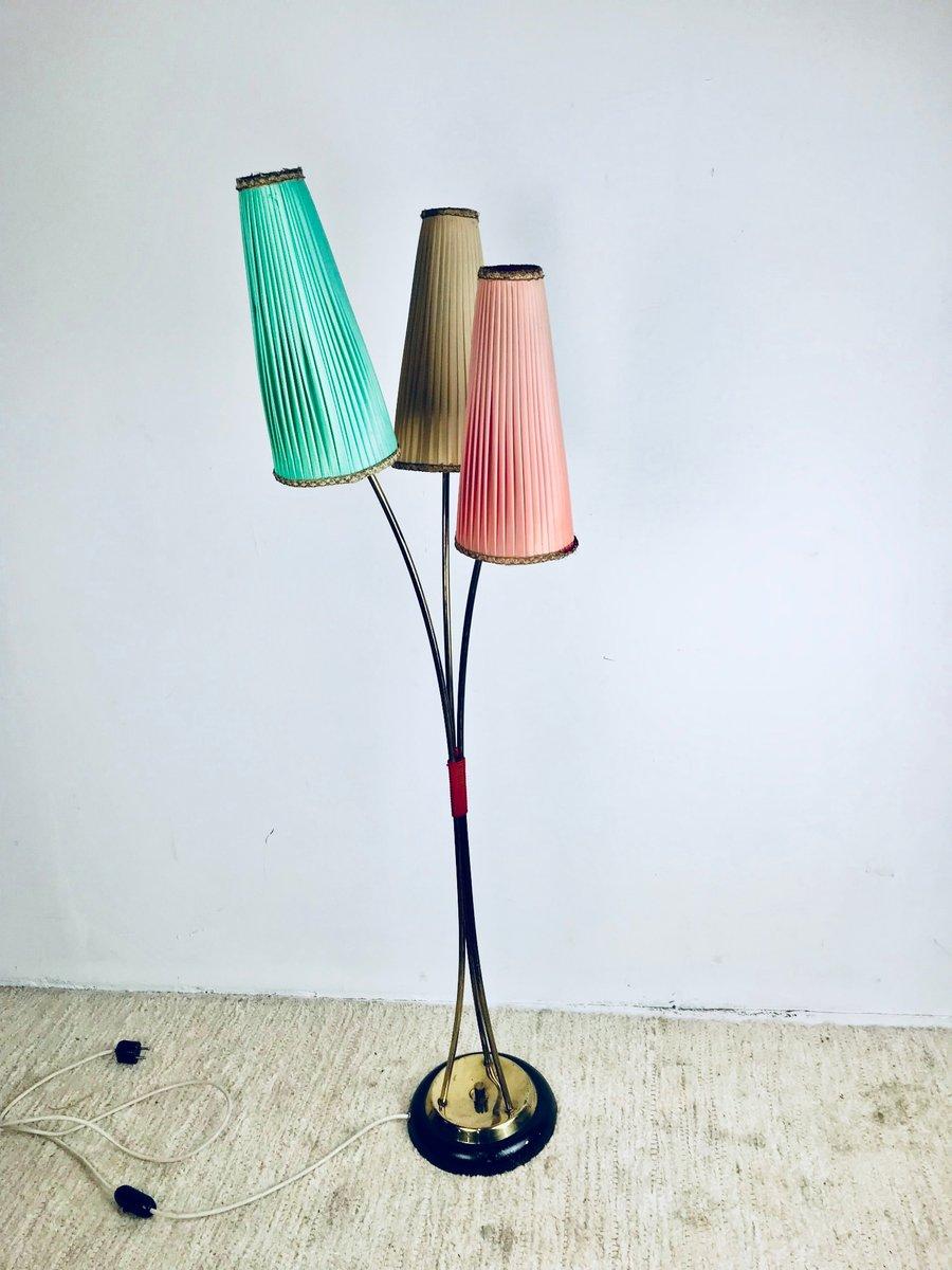 deutsche stehlampe mit drei armen 1950er bei pamono kaufen. Black Bedroom Furniture Sets. Home Design Ideas
