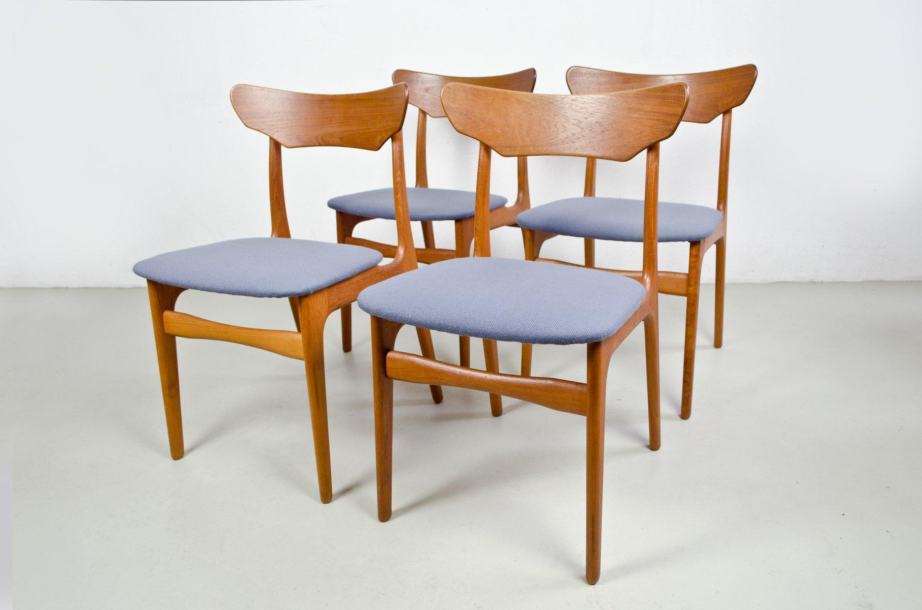 vintage esszimmerst hle aus teakholz von schi nning. Black Bedroom Furniture Sets. Home Design Ideas