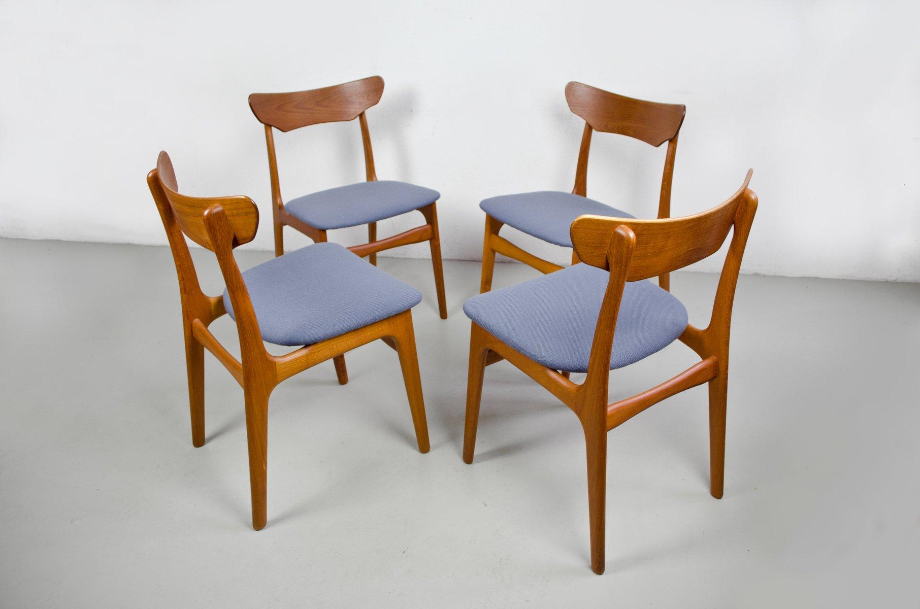 Vintage Teak Dining Chairs From Schiønning U0026 Elgaard, Set Of 4