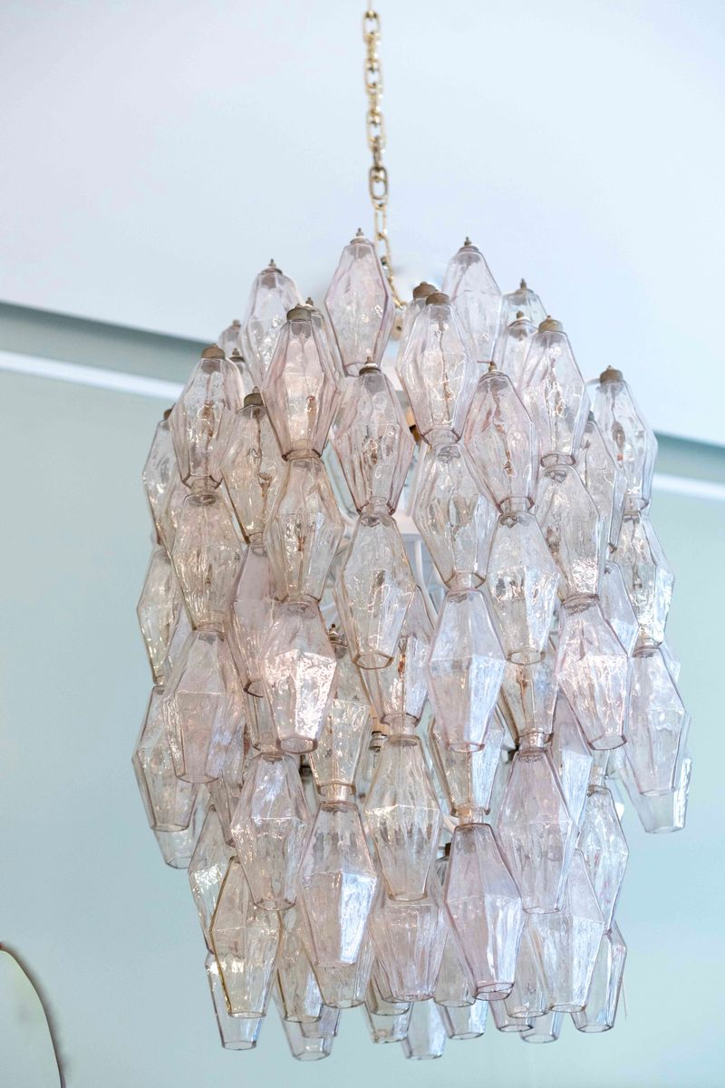 Mid century pink glass chandelier by paolo venini 1960s for sale previous aloadofball Images