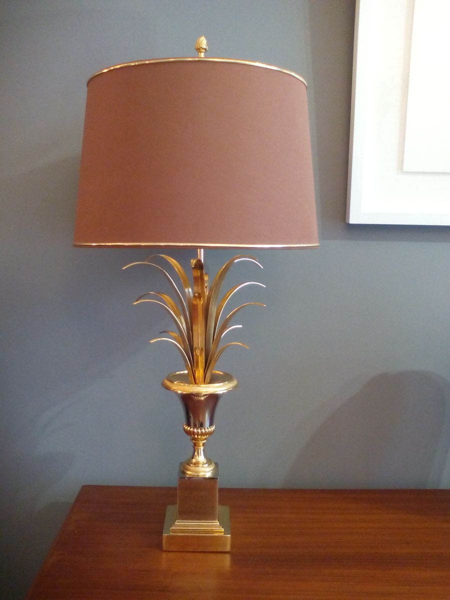 French palm leaf table lamp 1960s for sale at pamono french palm leaf table lamp 1960s aloadofball Choice Image