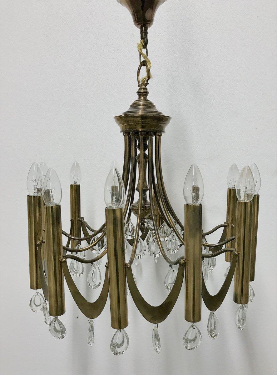 Brass chandelier by gaetano sciolari 1960s for sale at pamono brass chandelier by gaetano sciolari 1960s aloadofball Images