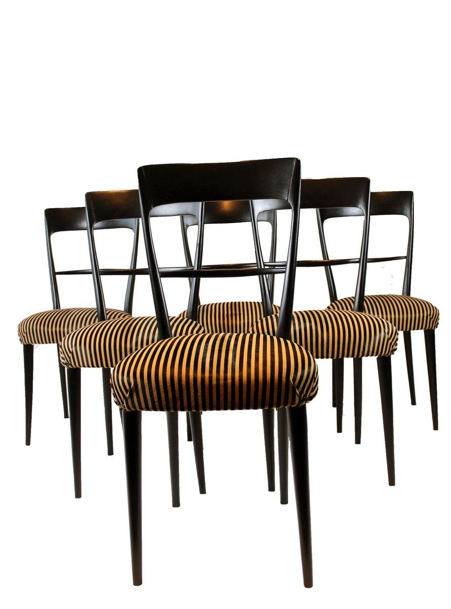 italienische st hle mit kissen aus rosshaar 1950er 6er set bei pamono kaufen. Black Bedroom Furniture Sets. Home Design Ideas