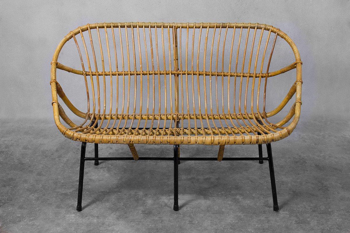 Wicker Sofa For Rohé Noordwolde, 1950s