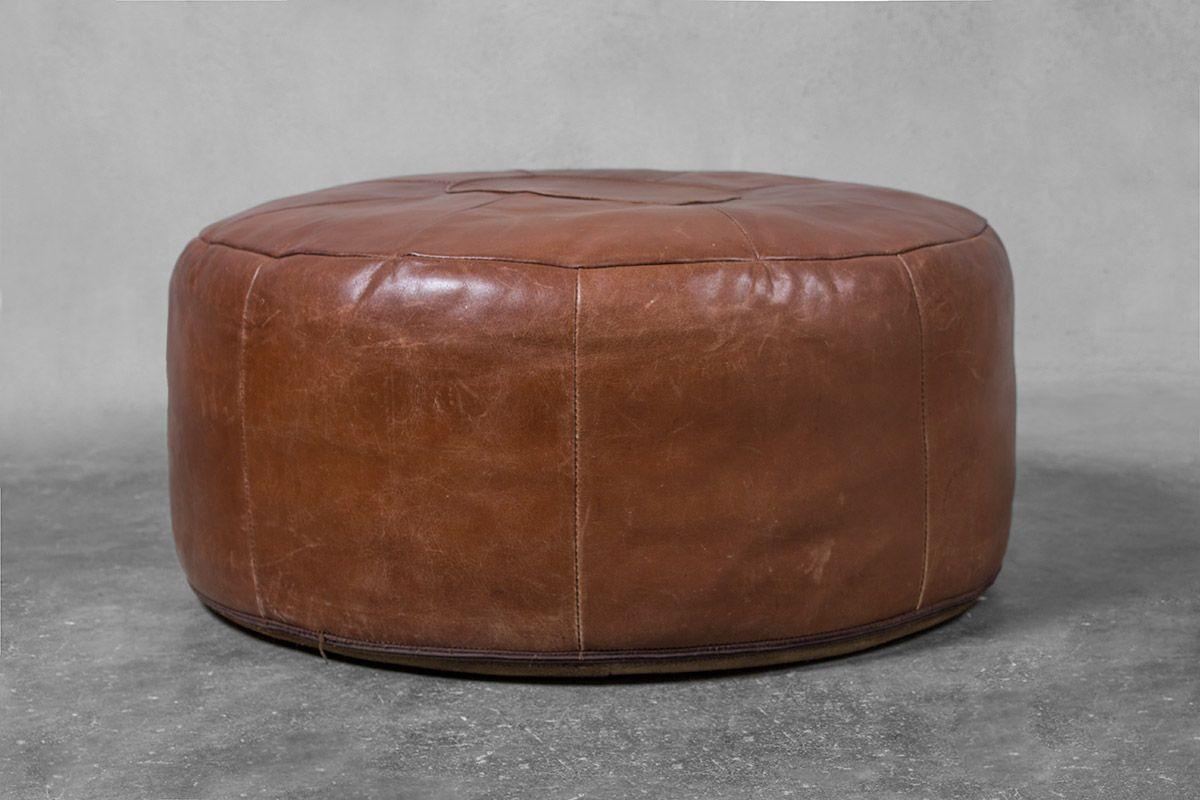 Pouf Leder großer leder pouf 1970er bei pamono kaufen