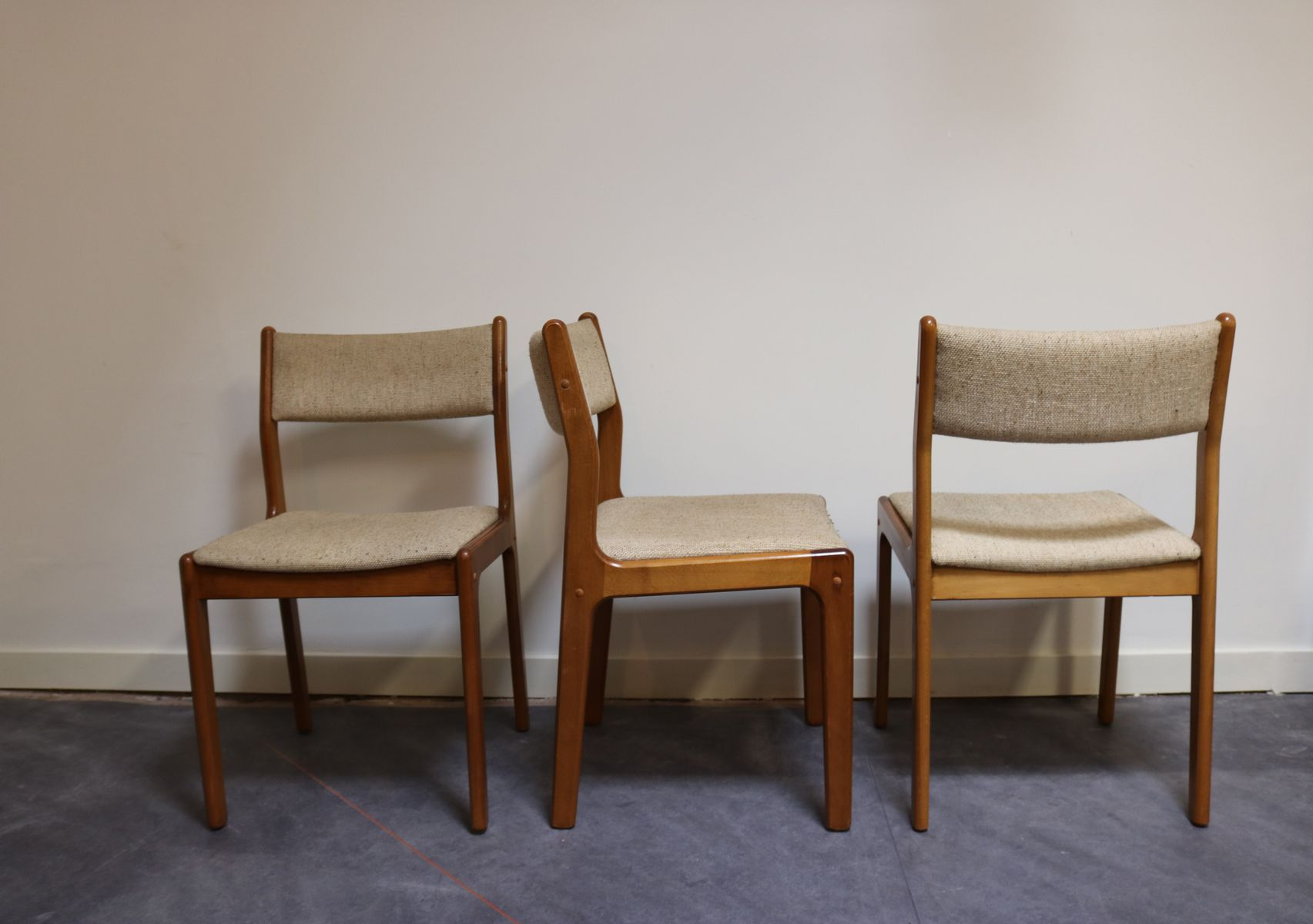Vintage Dining Chairs by Erik Buch for Findahl Mobelfabrik Set of