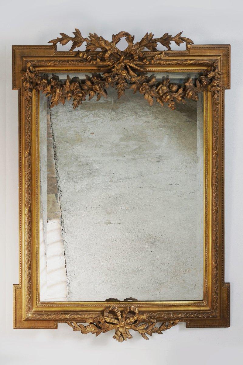 Specchio luigi xvi in vetro smussato con cornice in stucco dorato in vendita su pamono - Specchio con cornice ...