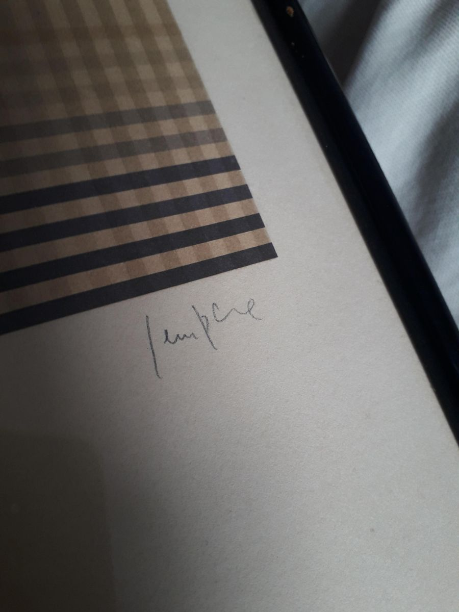 pop art siebdruck von eusebio sempere 1974 bei pamono kaufen. Black Bedroom Furniture Sets. Home Design Ideas