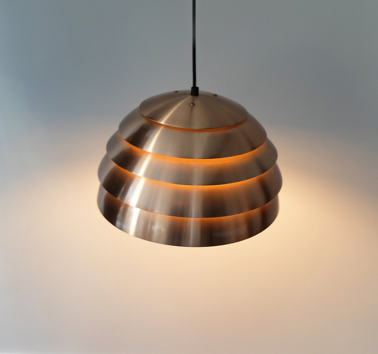 light modern dome pendant image matte vintage black