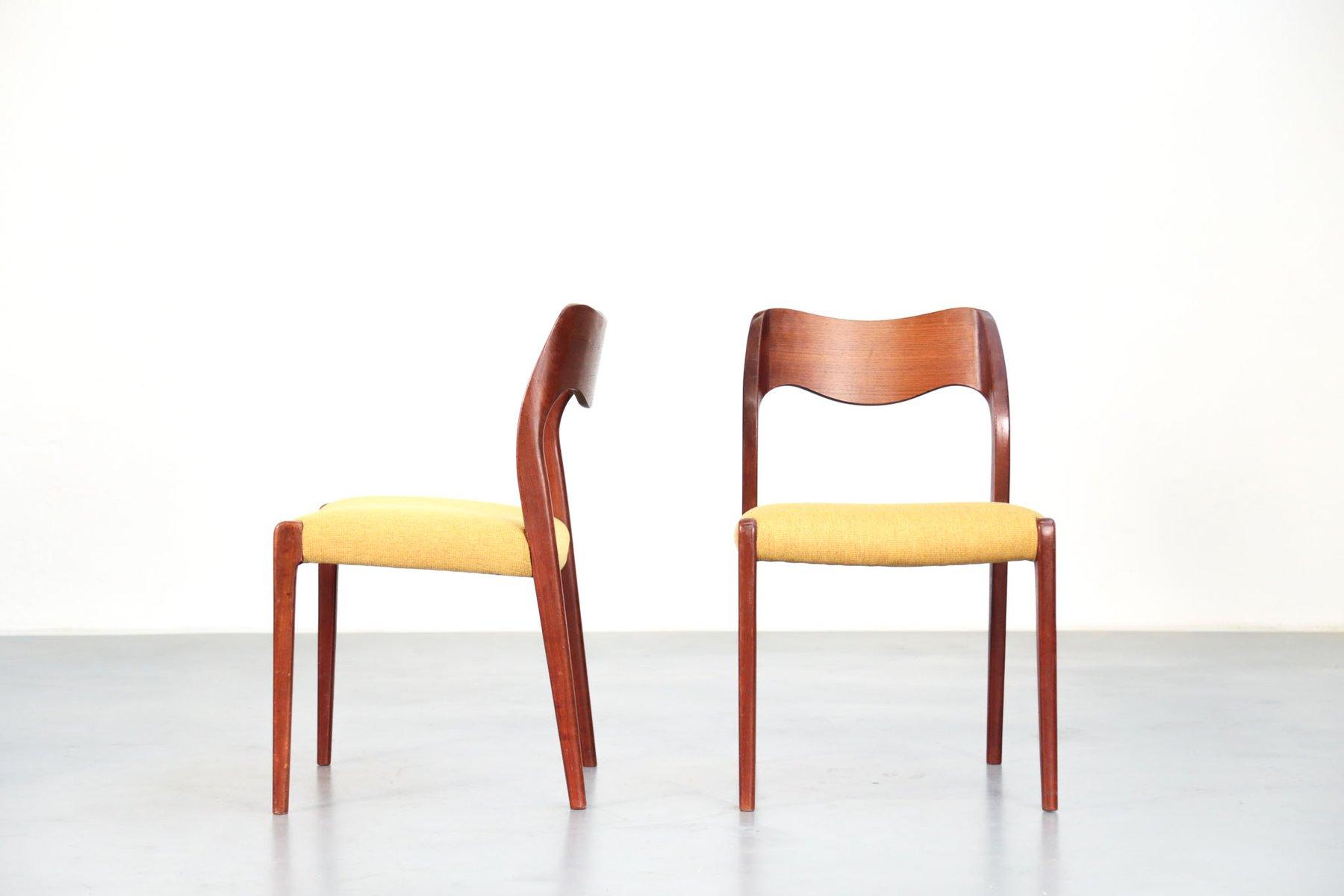 skandinavische st hle von niels otto m ller f r j l m llers 5er set bei pamono kaufen. Black Bedroom Furniture Sets. Home Design Ideas