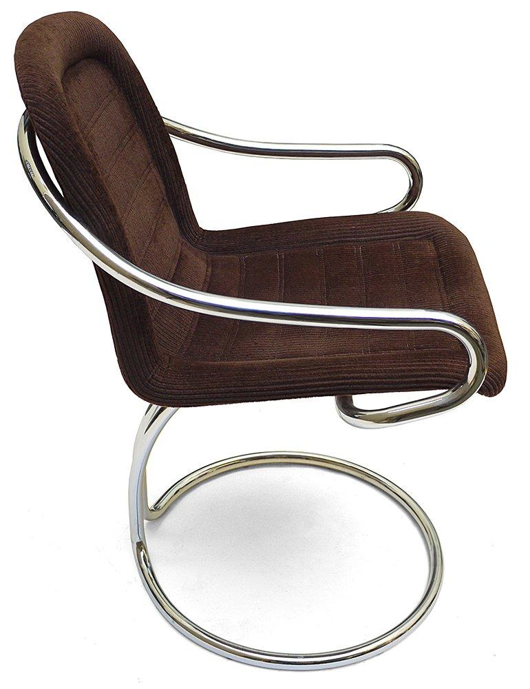 Vintage Tubular Corduroy Side Chair 1970s For Sale At Pamono