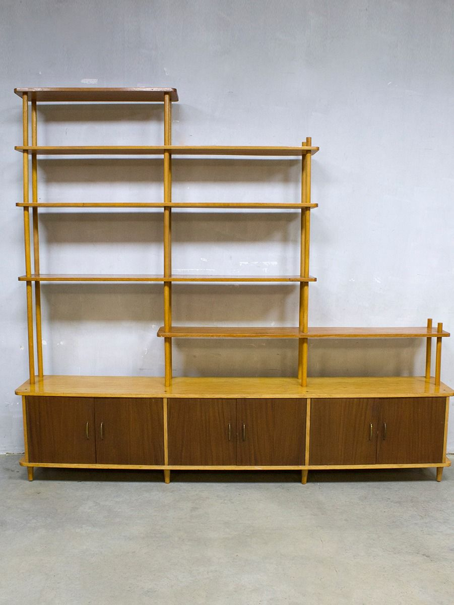Vintage Dutch Room Divider Or Shelving Unit By Willem