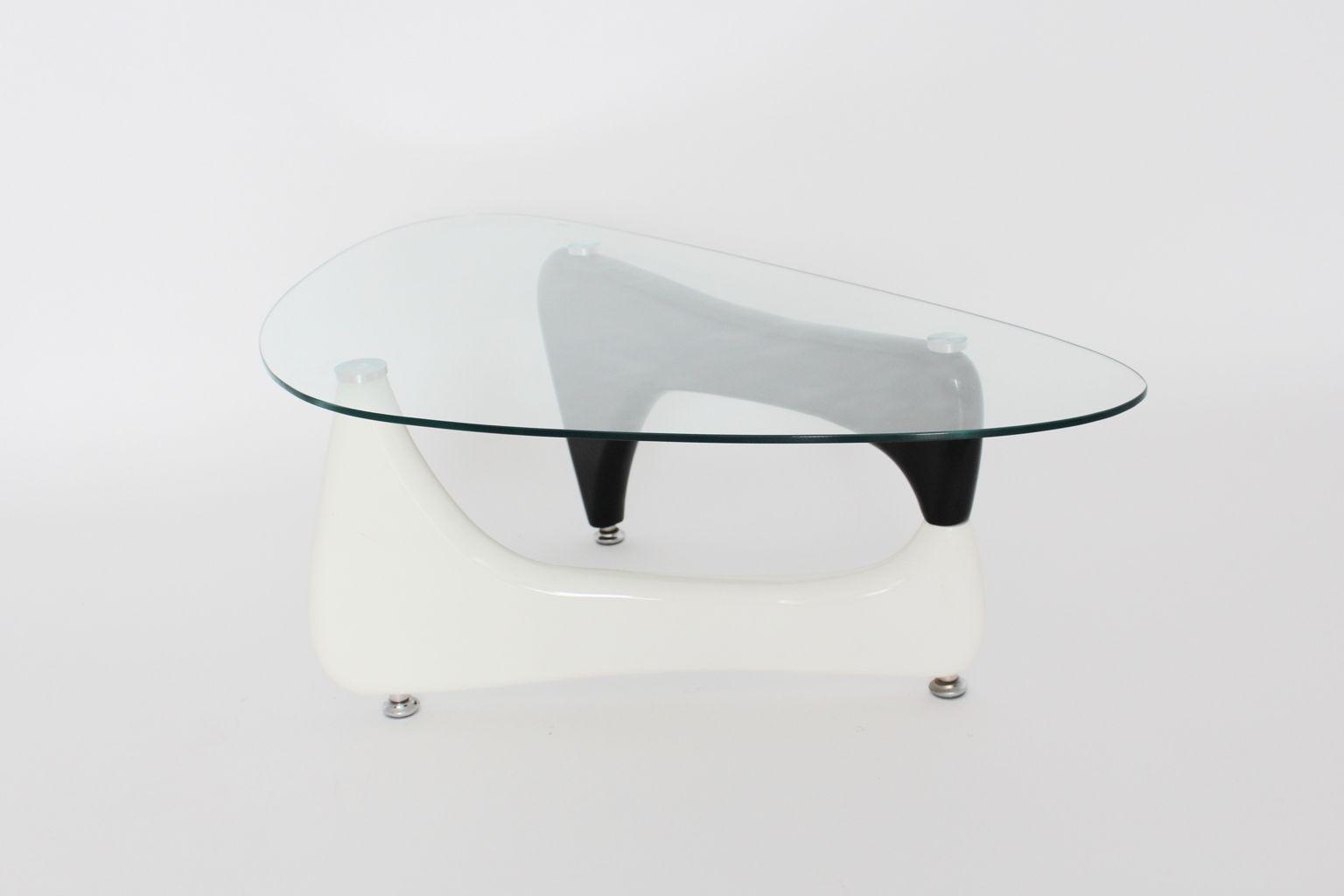Mid Century Black And White Modern Coffee Table 1970s Bei Pamono Kaufen