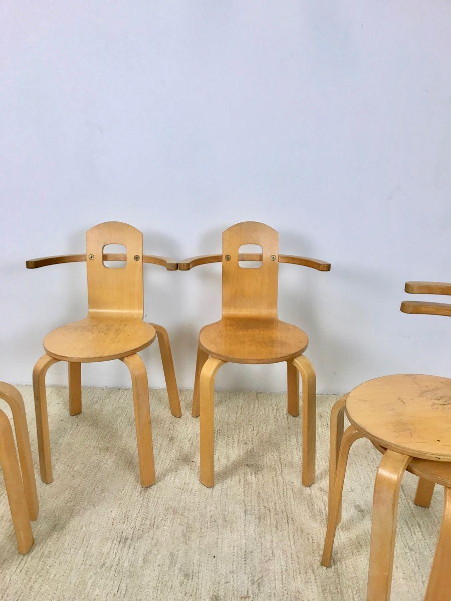 schwedische st hle 1980er 6er set bei pamono kaufen. Black Bedroom Furniture Sets. Home Design Ideas