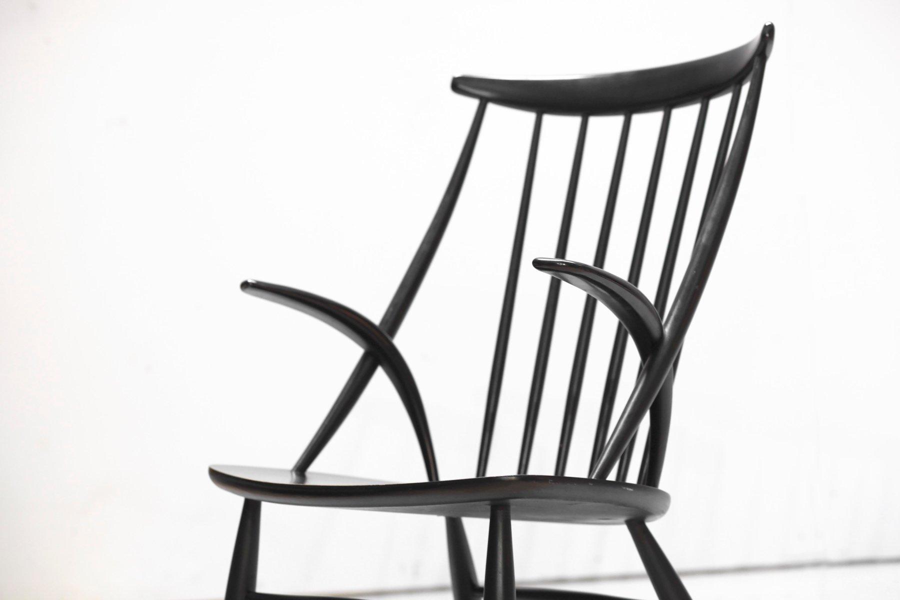 d nischer moderner number 3 schaukelstuhl von illum wikkelso f r niels eilersen 1960er bei. Black Bedroom Furniture Sets. Home Design Ideas