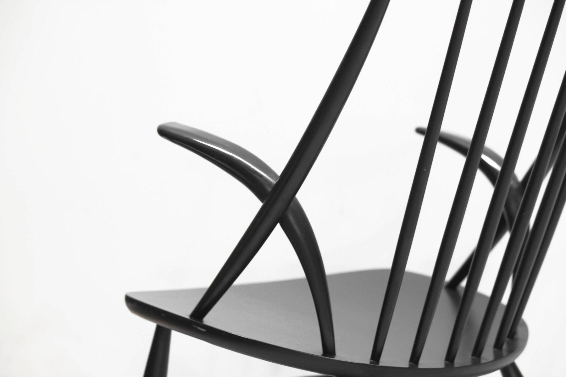 Danish modern number 3 rocking chair by illum wikkelso for for Schaukelstuhl illum wikkelso