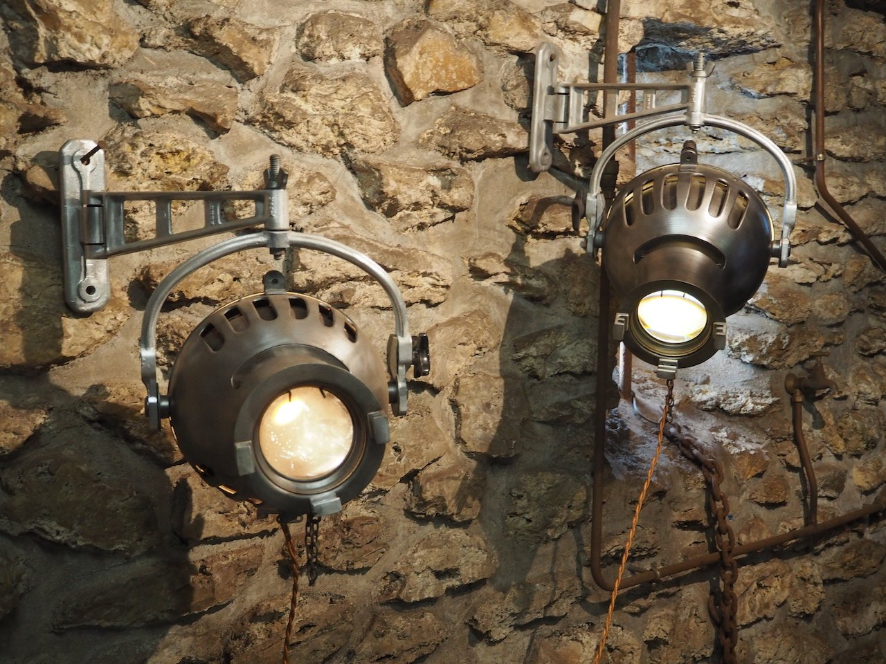 bronze in wall shades light products industrial of screened sconce