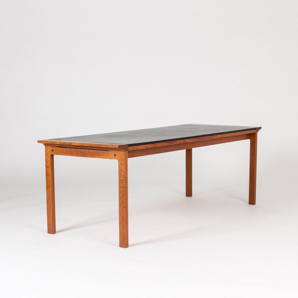 leder und teak couchtisch von arne vodder 1960er bei pamono kaufen. Black Bedroom Furniture Sets. Home Design Ideas