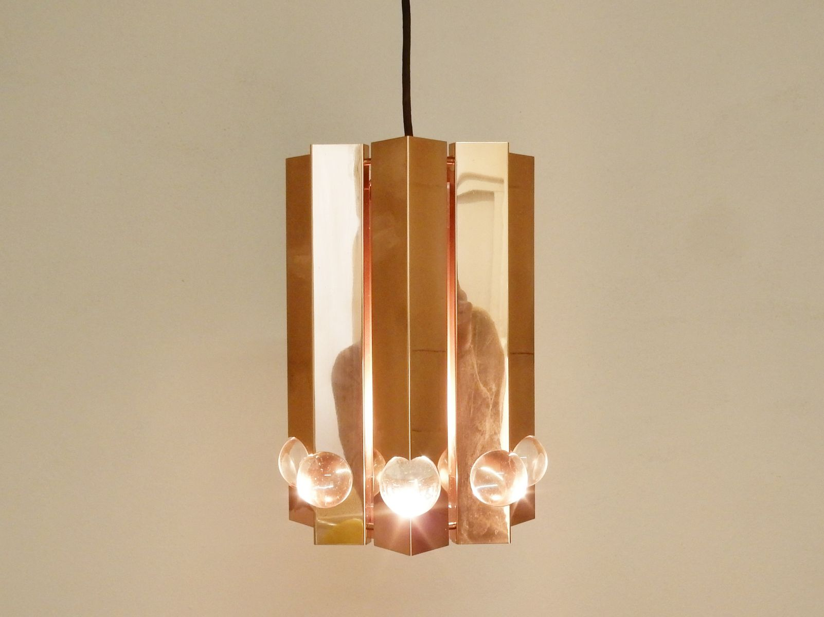 copper pendant lighting. Polished Copper Pendant Light By Gebrüder Cosack, 1960s Lighting N