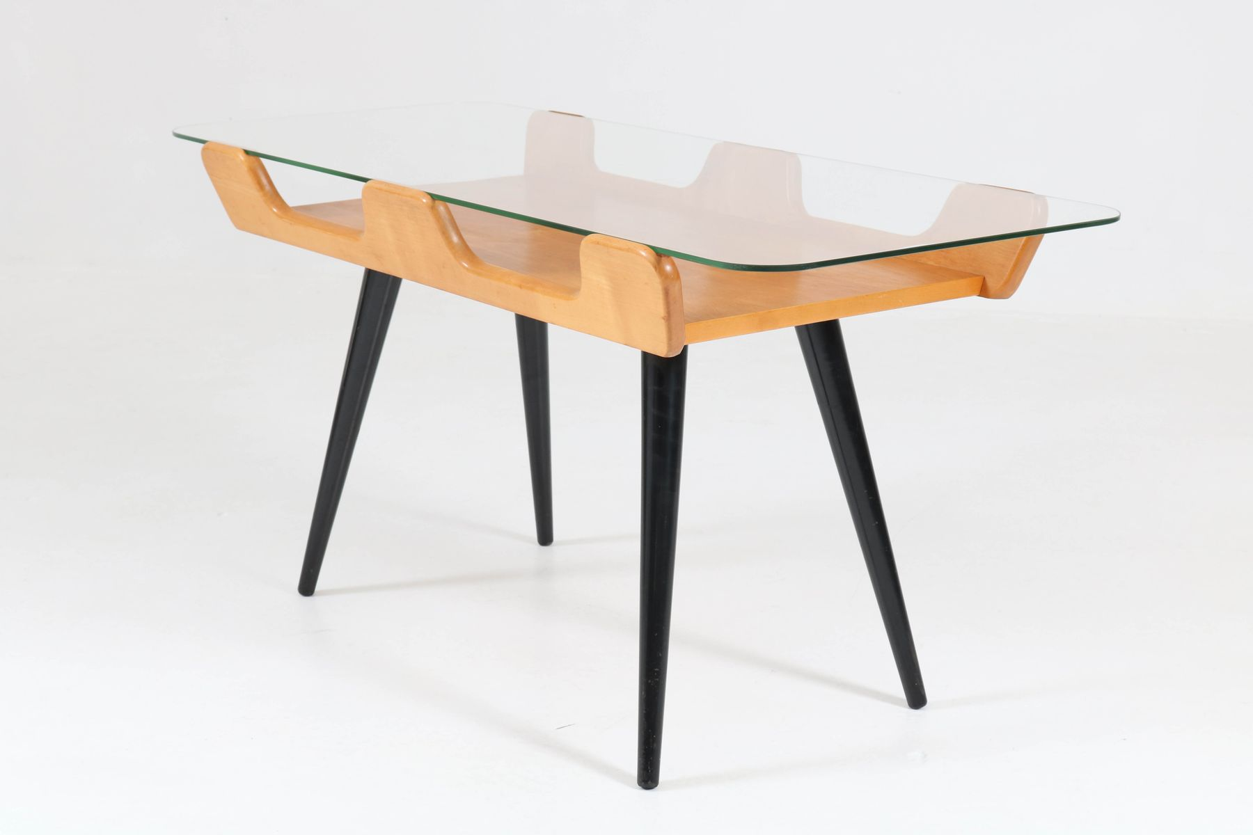 Mid Century Italian Birch Coffee Table 1950s For Sale At
