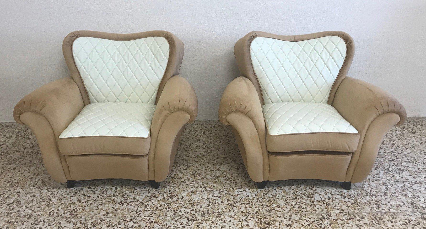 italienische art deco armlehnst hle 1940er 2er set bei. Black Bedroom Furniture Sets. Home Design Ideas