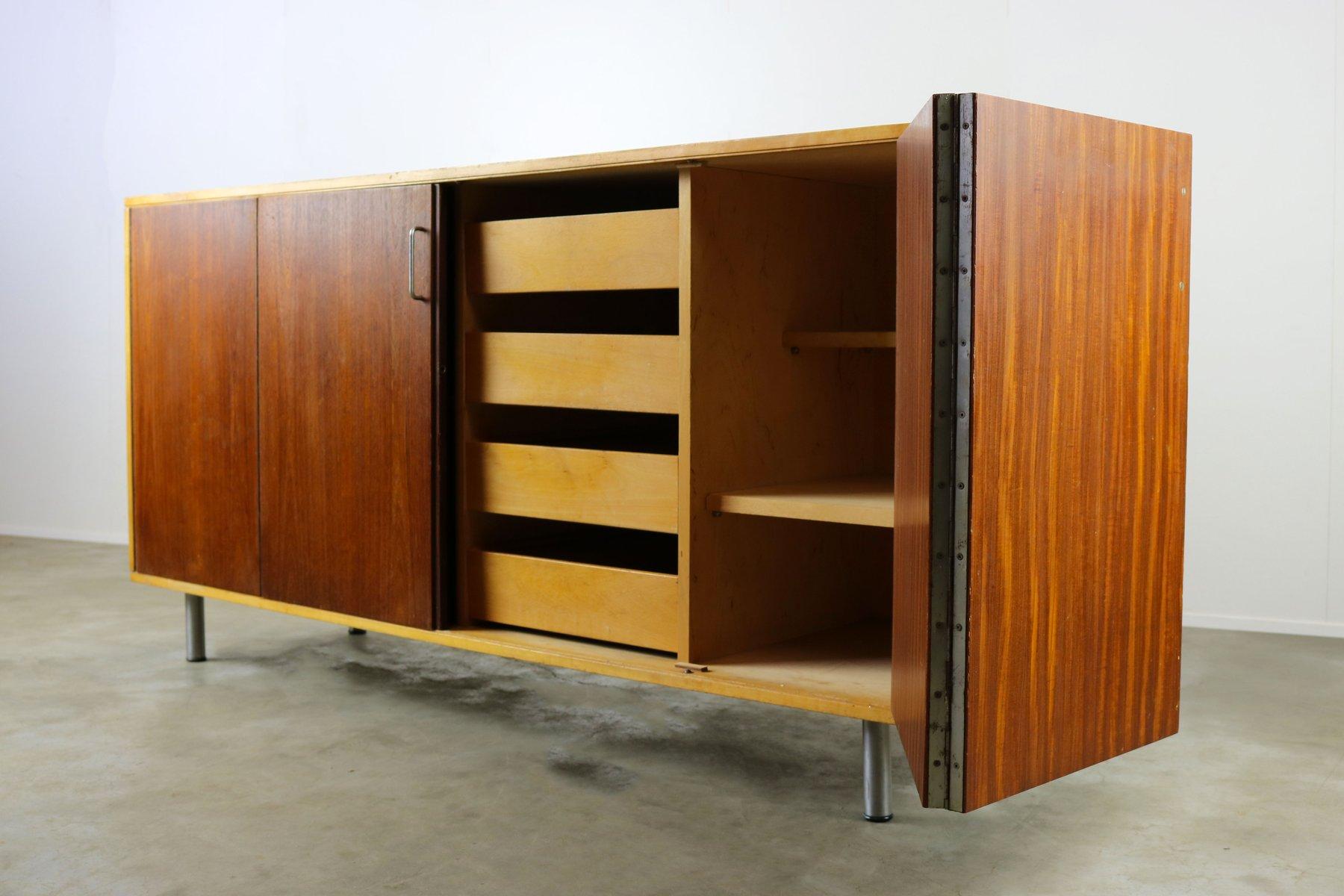 birch teak combex series db02 lowboard by cees braakman. Black Bedroom Furniture Sets. Home Design Ideas