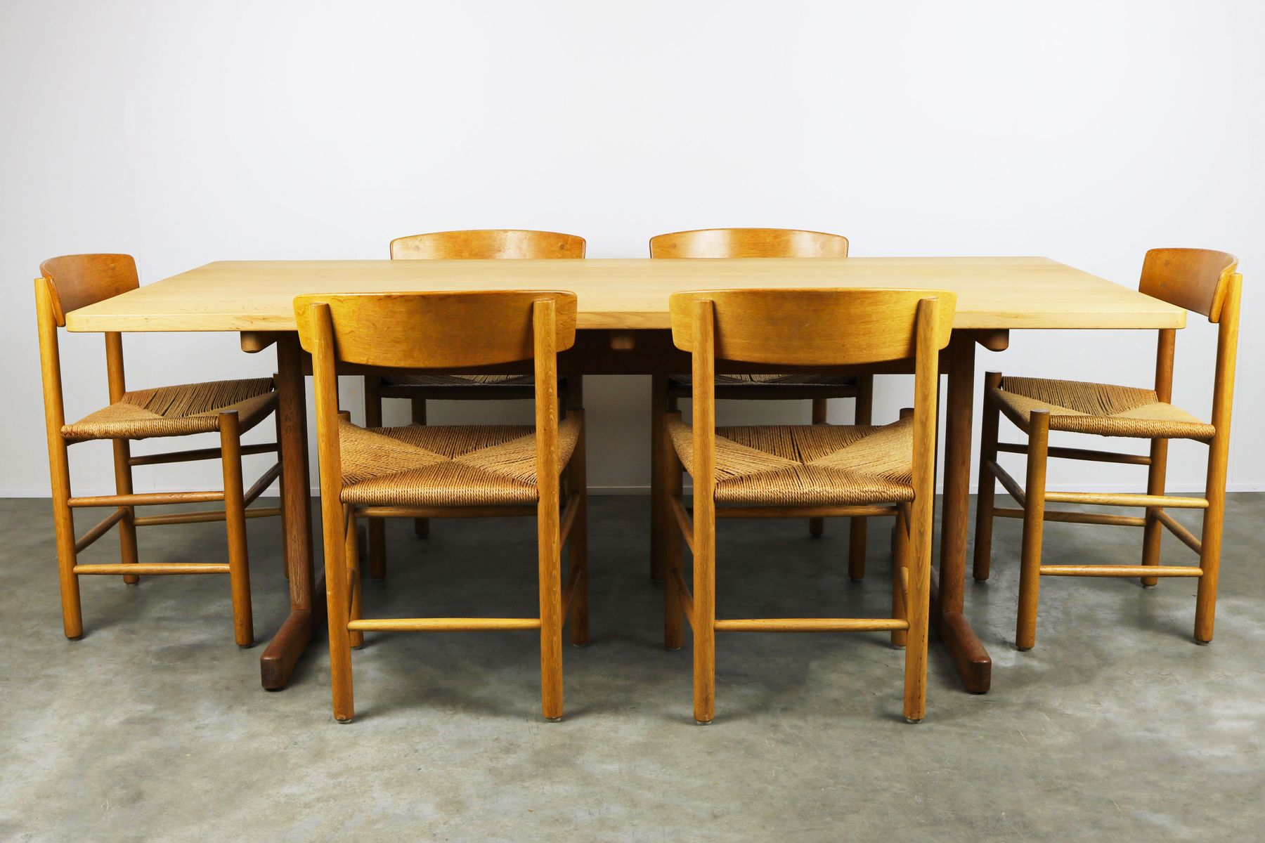 Danish Shaker Dining Room Set J39 Chairs U0026 6286 Table By Børge Mogensen For  Fredericia Stolenfabrik, 1950s For Sale At Pamono