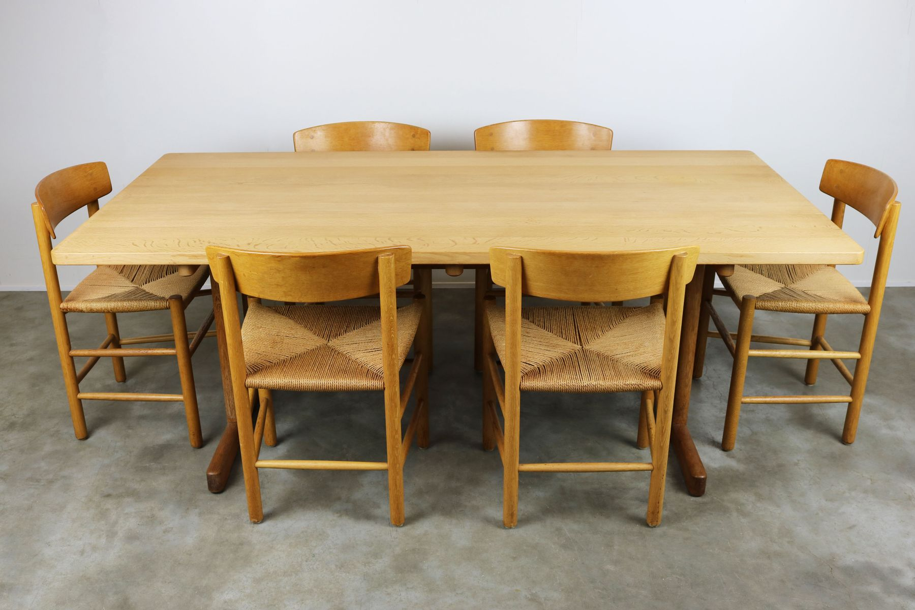 Danish Shaker Dining Room Set J39 Chairs & 6286 Table By B¸rge