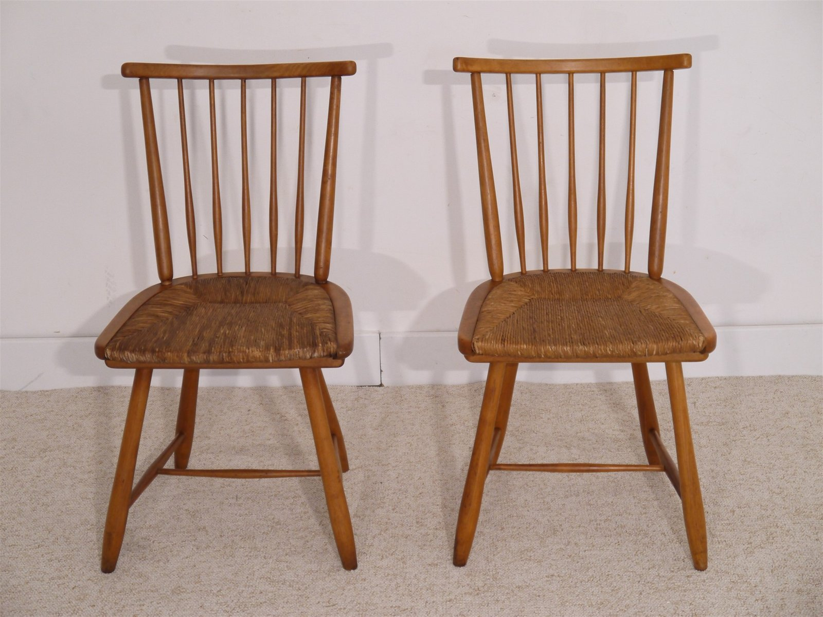 mid century german chairs by arno lambrecht for wk m bel 1950s set of 2 for sale at pamono. Black Bedroom Furniture Sets. Home Design Ideas