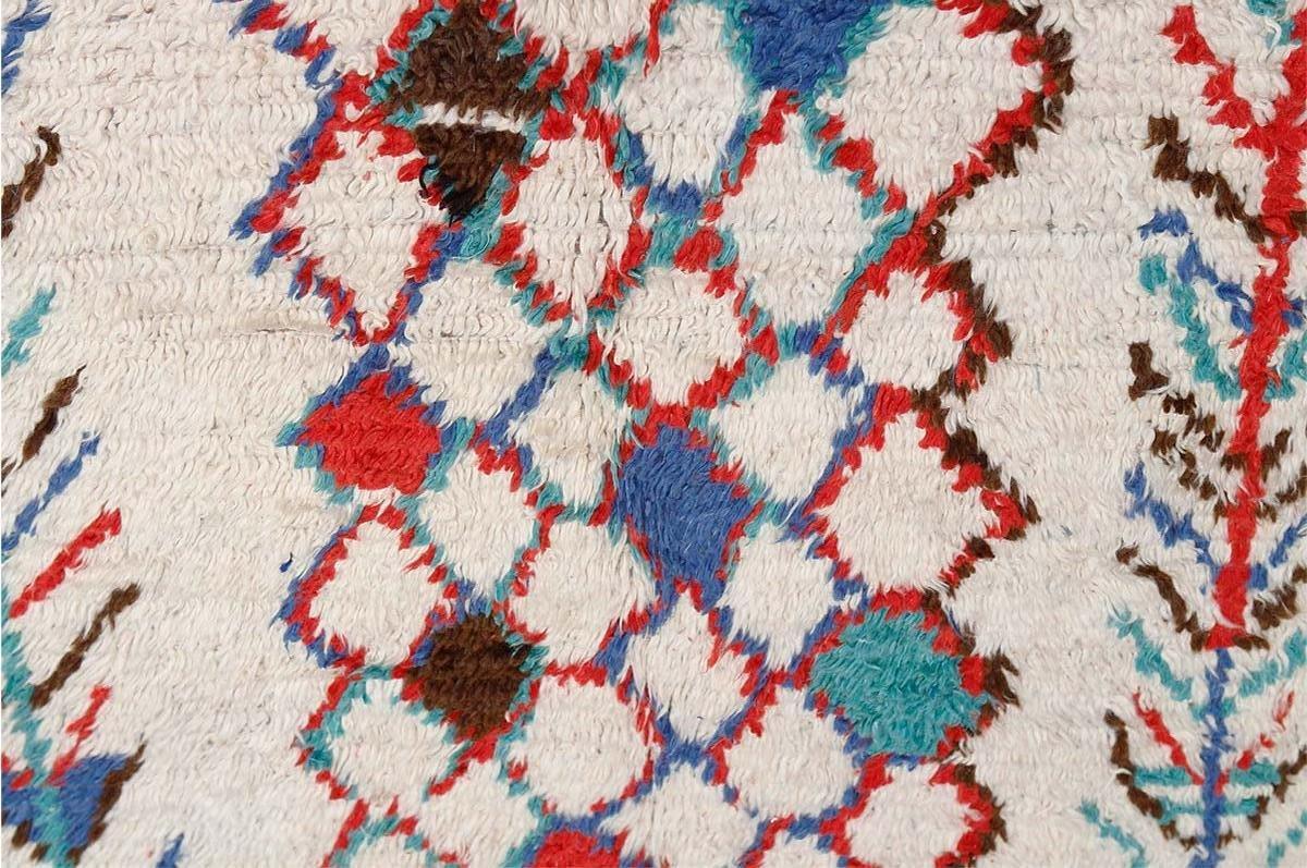 marokkanischer vintage berber teppich von azilal 1980er. Black Bedroom Furniture Sets. Home Design Ideas