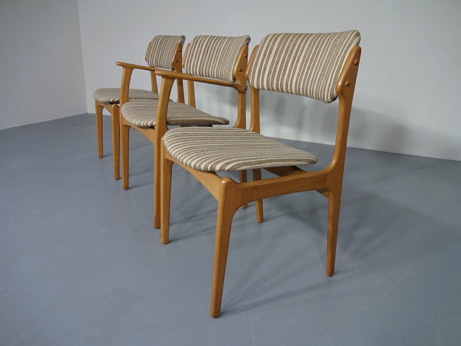 Fauteuil en Chªne & 2 Chaises de Salon par Erik Buch pour OD