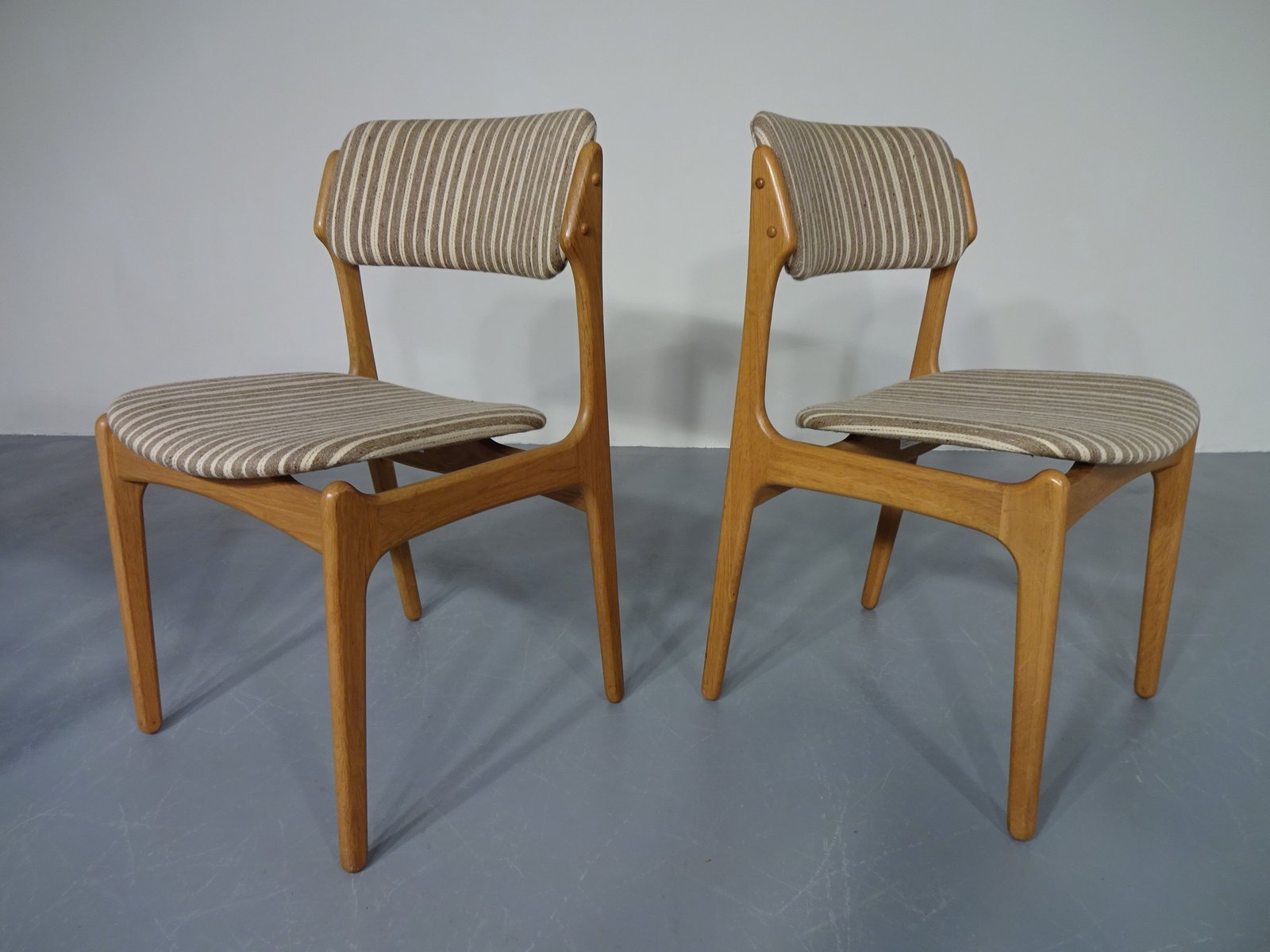 danish oak armchair 2 dining chairs by erik buch for od ma¸bler