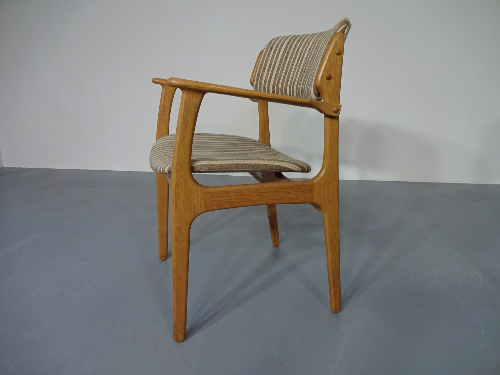 Danish Oak Chairs by Erik Buch for OD M¸bler Set of 3 for sale at