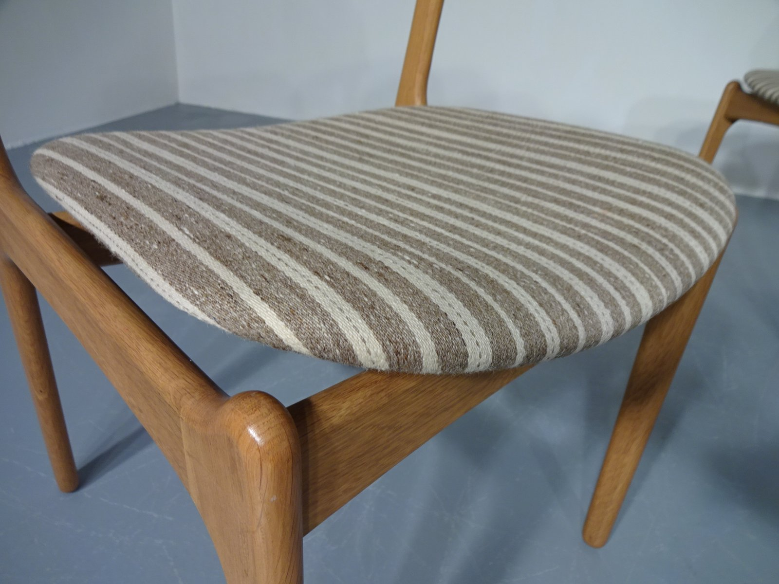 Danish Oak Chairs by Erik Buch for OD M¸bler Set of 3 en vente