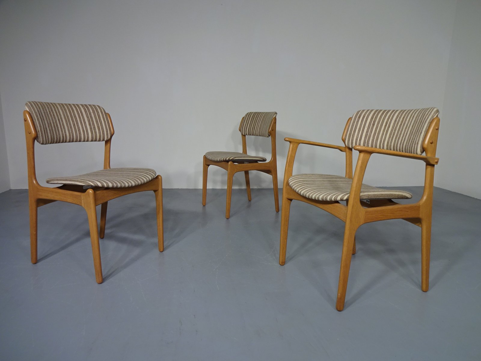 Danish Oak Armchair & 2 Dining Chairs by Erik Buch for OD M¸bler