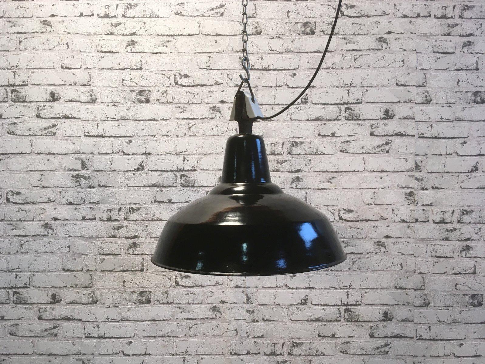 Industrielle vintage lampe mit porzellanteil 1950er bei pamono kaufen - Lampe vintage industrielle ...