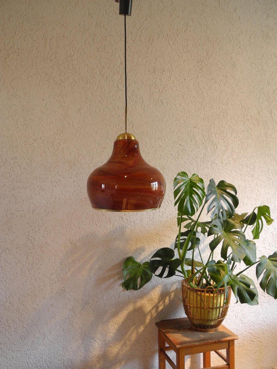 lampe suspension en verre souffl de doria leuchten 1970s en vente sur pamono. Black Bedroom Furniture Sets. Home Design Ideas