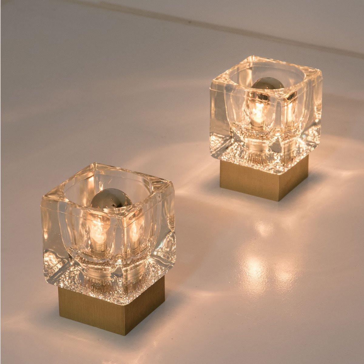 applique murale ou plafonnier cube en laiton verre de. Black Bedroom Furniture Sets. Home Design Ideas
