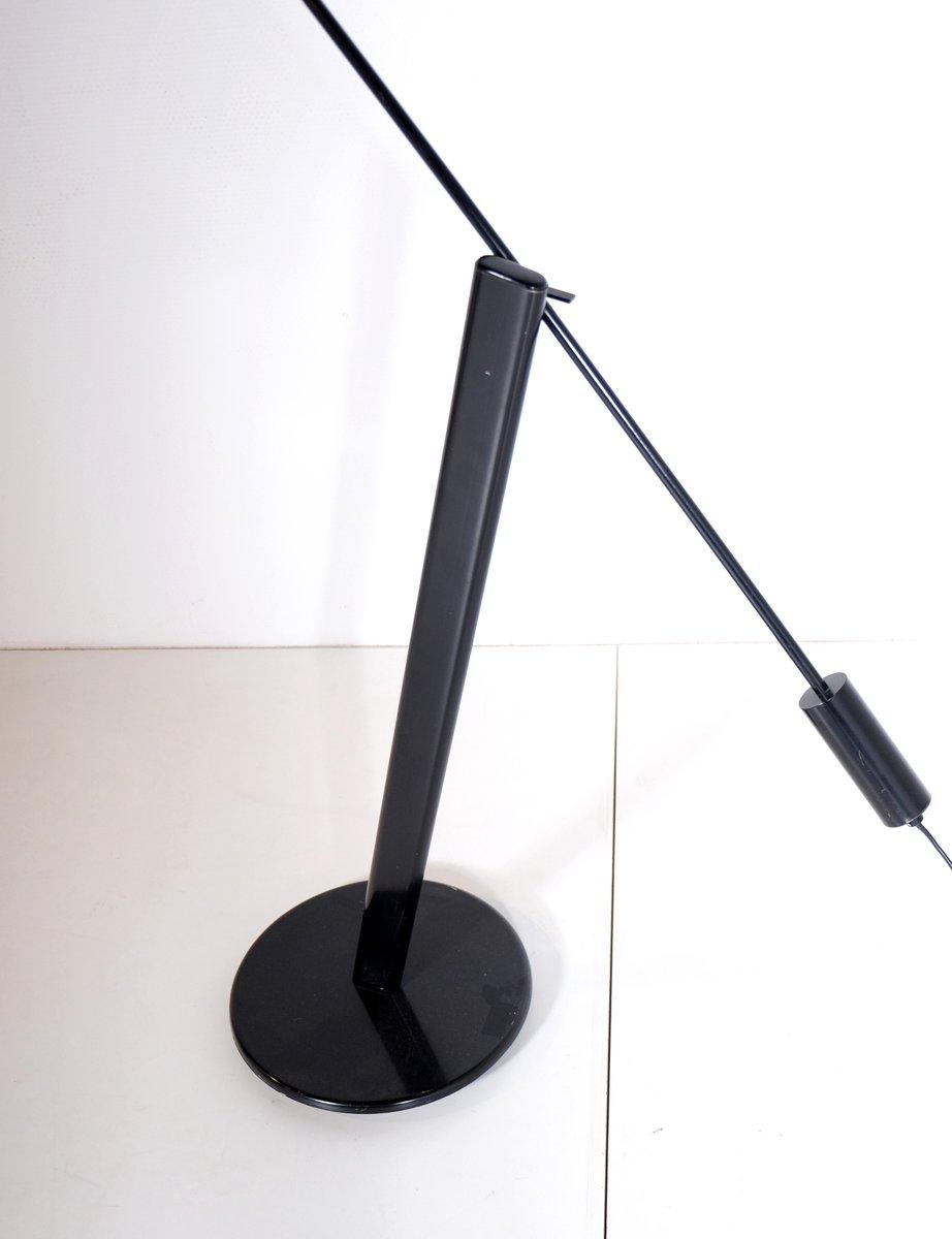 italienische stehlampe aus schwarz lackiertem metall. Black Bedroom Furniture Sets. Home Design Ideas