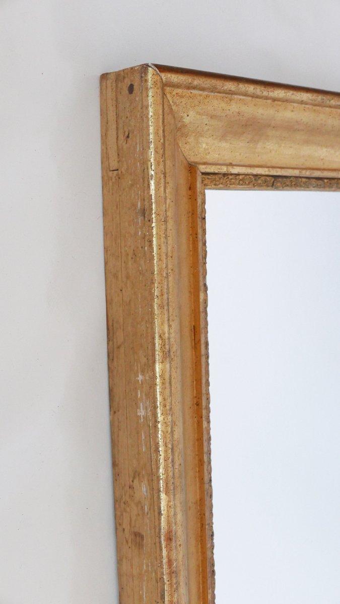 antiker vergoldeter franz sischer spiegel bei pamono kaufen. Black Bedroom Furniture Sets. Home Design Ideas