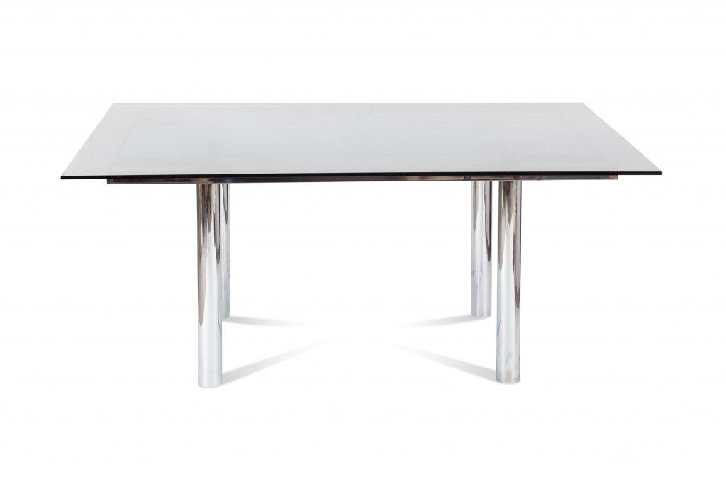 quadratischer andr chrom esstisch von tobia scarpa f r. Black Bedroom Furniture Sets. Home Design Ideas