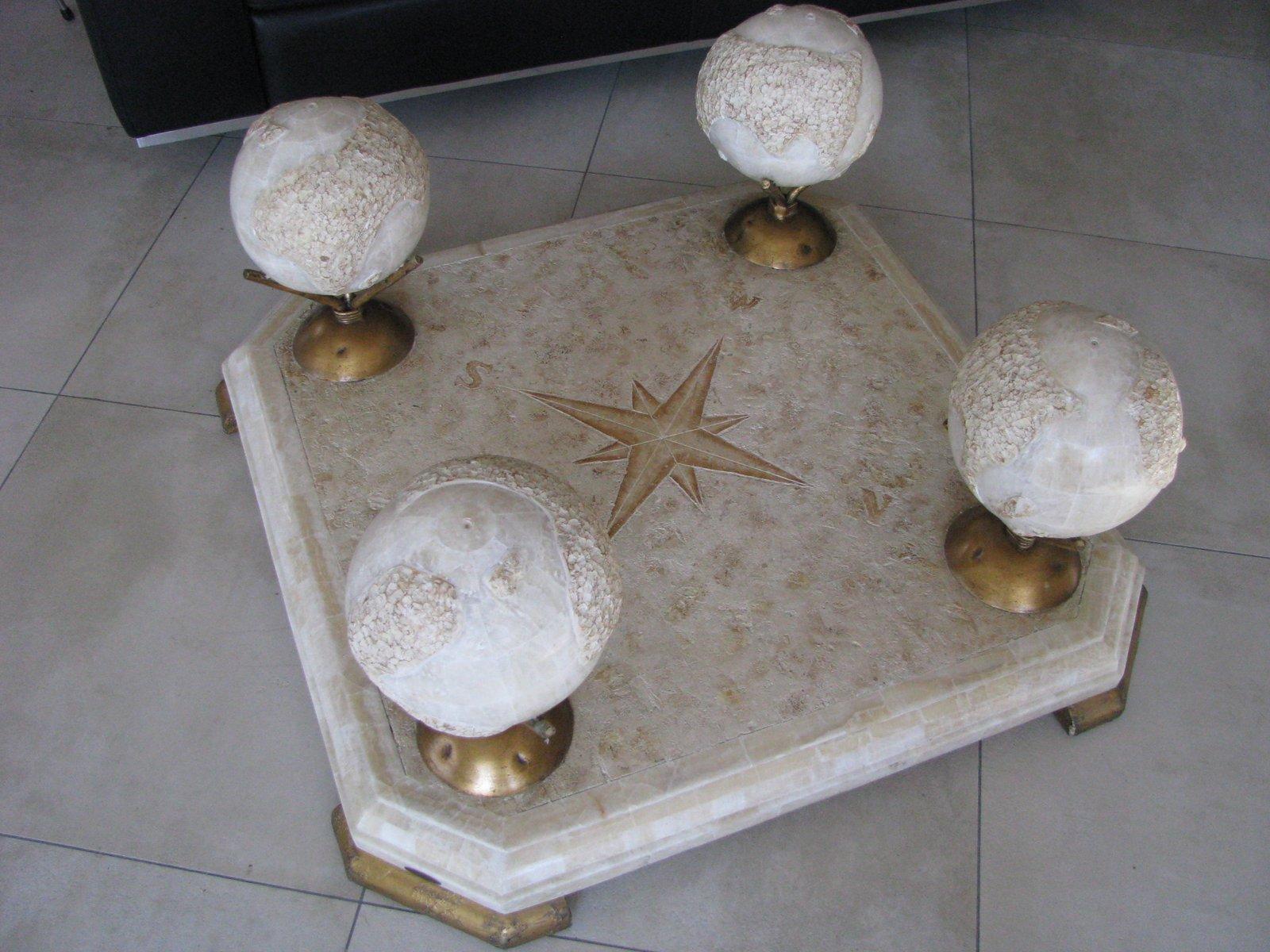 Marmor und glas couchtisch von fournier 1960er bei pamono for Designer couchtisch glas marmor
