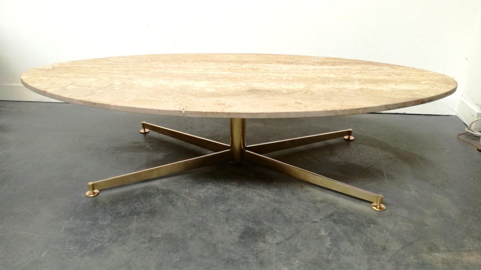 table basse en travertin marbre par michel kin pour. Black Bedroom Furniture Sets. Home Design Ideas