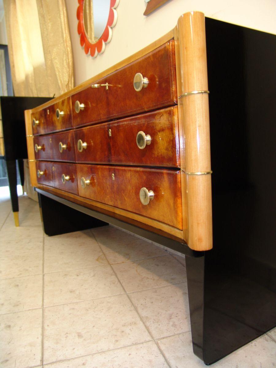 coiffeuse art d co en cuir 1930s en vente sur pamono. Black Bedroom Furniture Sets. Home Design Ideas