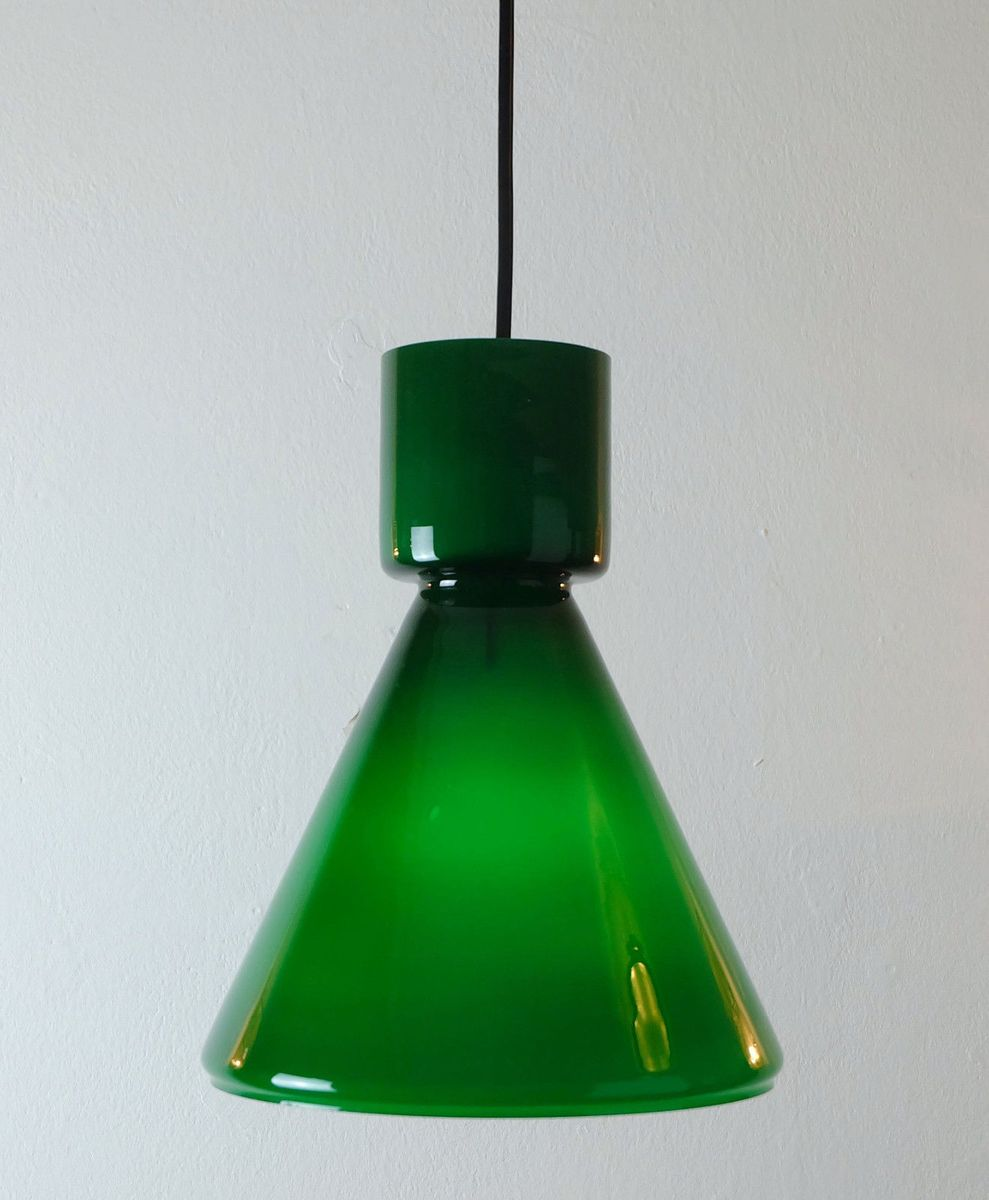 German green glass pendant light from limburg 1970s for sale at pamono german green glass pendant light from limburg 1970s aloadofball Image collections