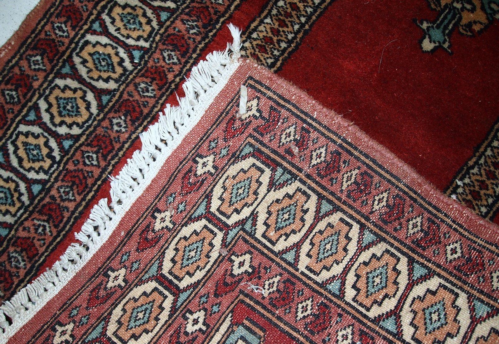 handgekn pfter t rkischer vintage konya teppich 1970er bei pamono kaufen. Black Bedroom Furniture Sets. Home Design Ideas