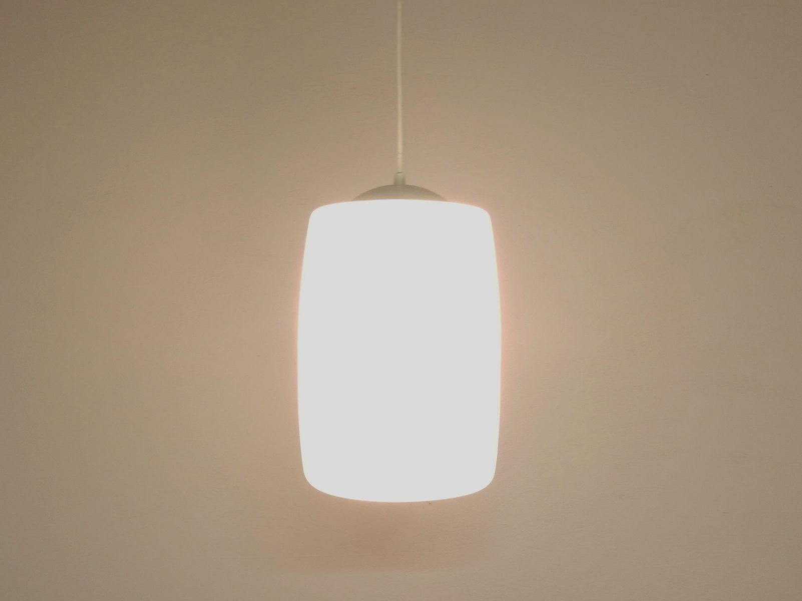 Dutch Opaline Glass Pendant Light 1960s