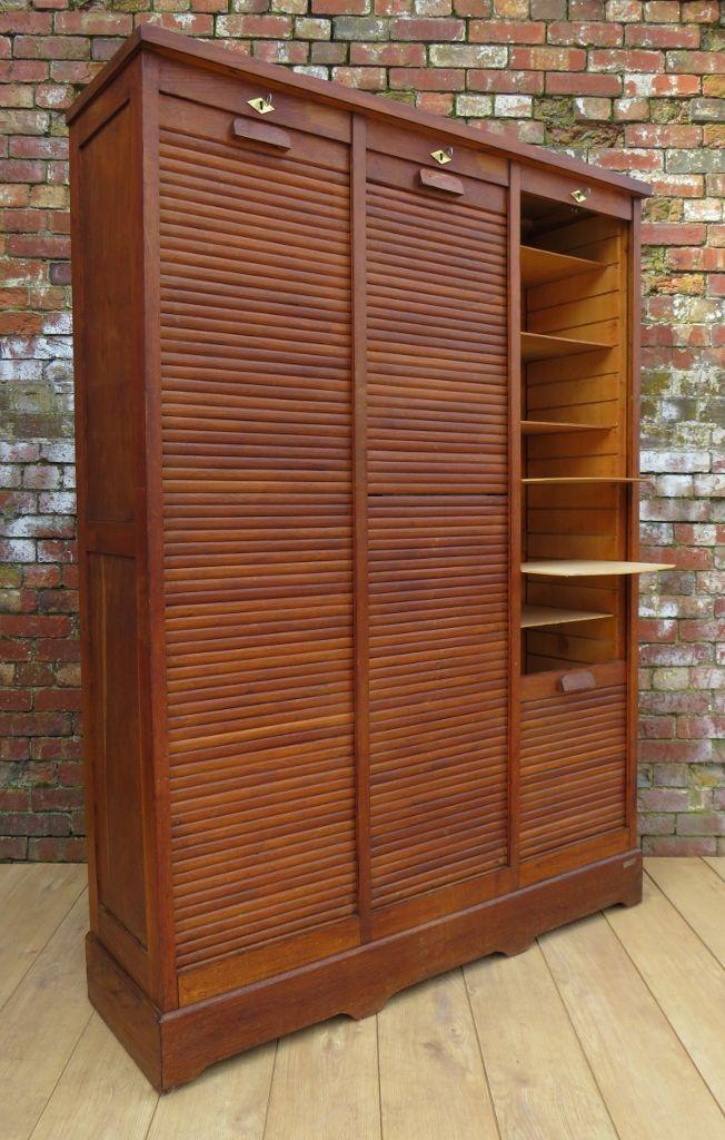 vintage schrank f r kurzwaren aus eichenholz bei pamono kaufen. Black Bedroom Furniture Sets. Home Design Ideas